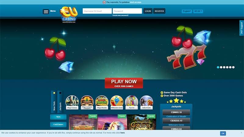 eu casino lobby screenshot