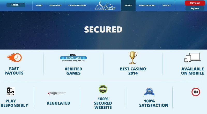 Luna casino secure