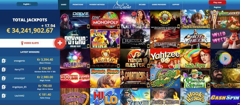 Luna casino screenshot