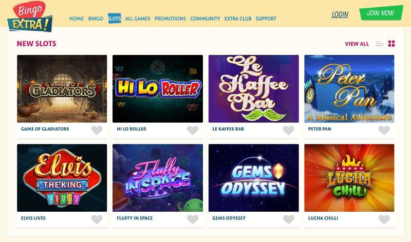 Slots at Bingo Extra