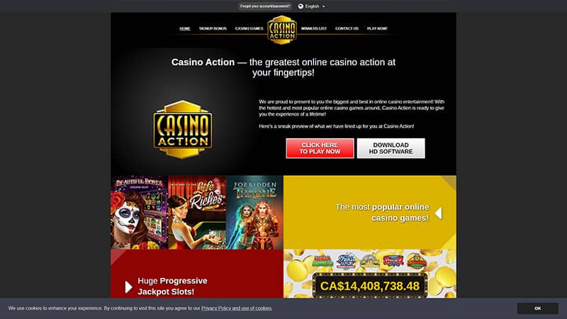 casino action lobby screenshot