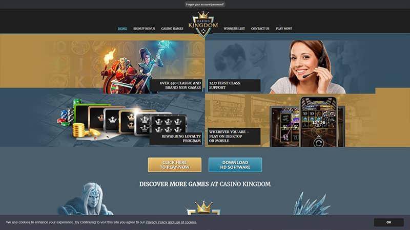 casino kingdom lobby screenshot
