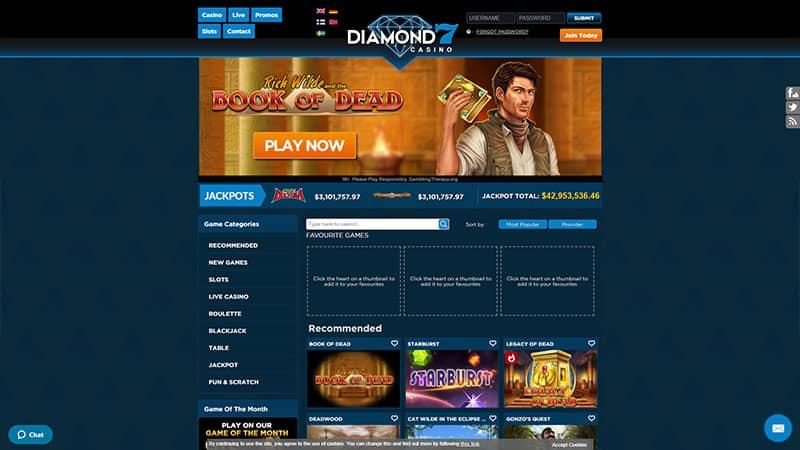 diamond7 lobby screenshot