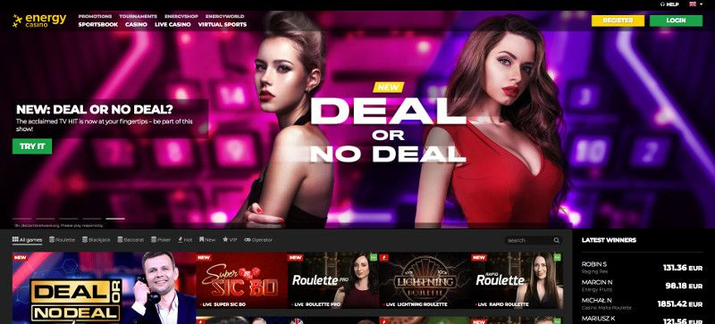 Live casino games at Energy Casino