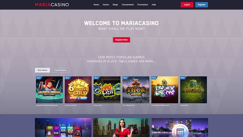 maria casino lobby screenshot