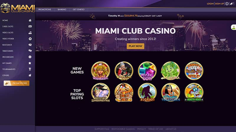 miami-club casino lobby screenshot