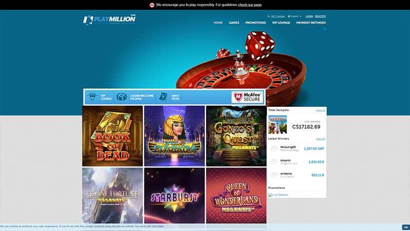 play million lobby screenshot