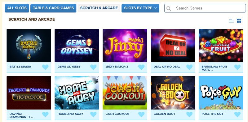 Scratch cards and other casino games at Kitty Bingo