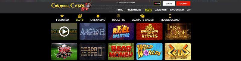 Slots at Conquer Casino