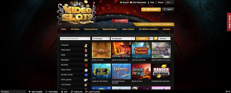 Slots at Videoslots - Screenshot