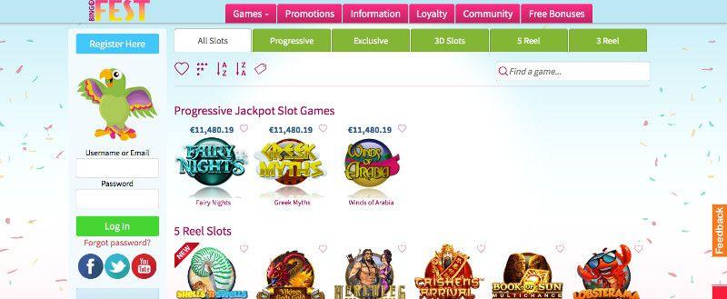 Slots at Bingo Fest