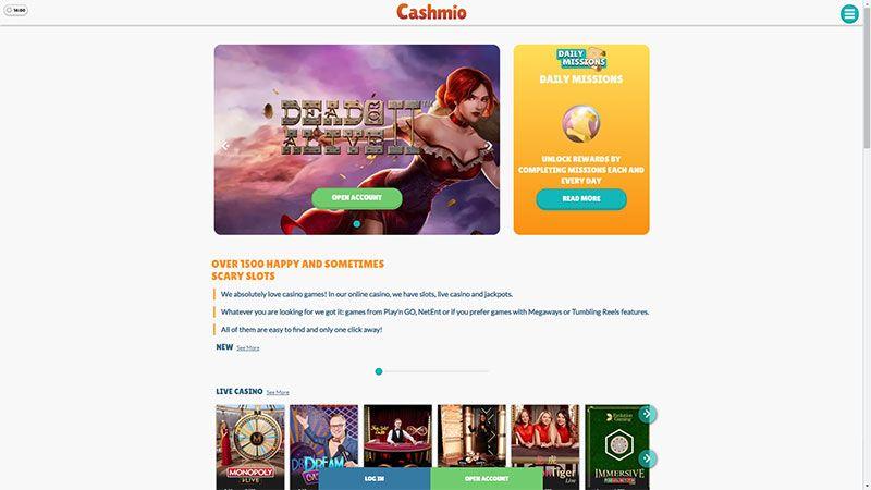 Cashmio lobby screenshot