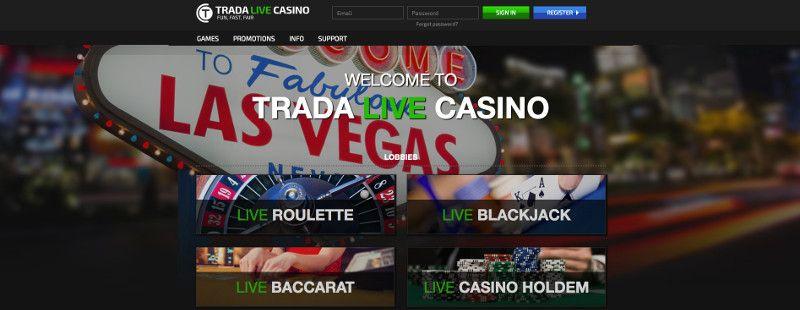 Live casino games at Trada Casino