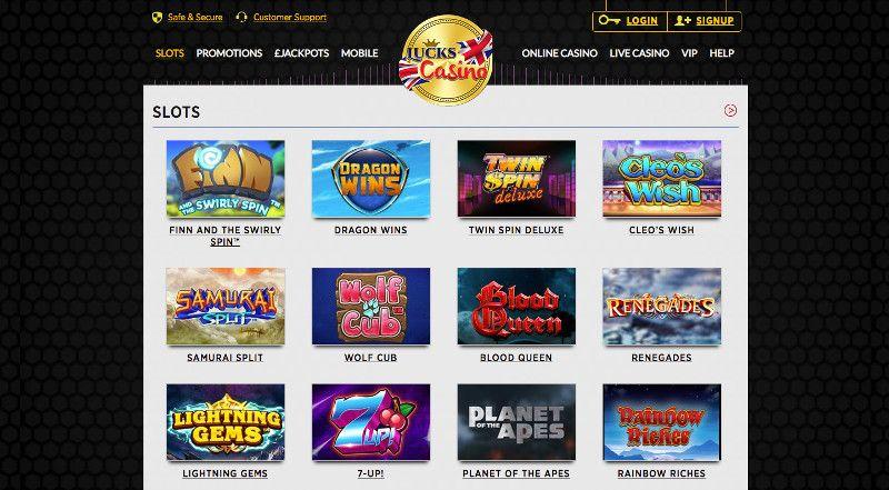 Slots at Lucks casino