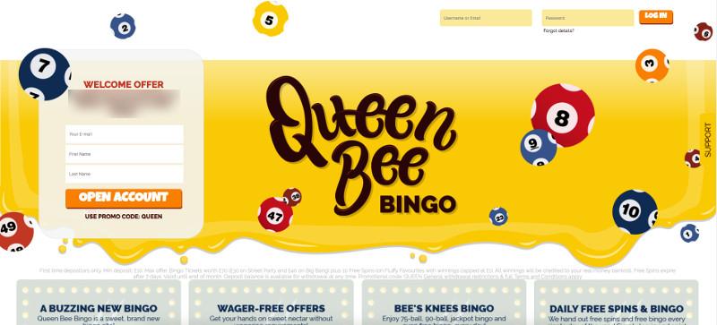 Queen bee bingo screenshot