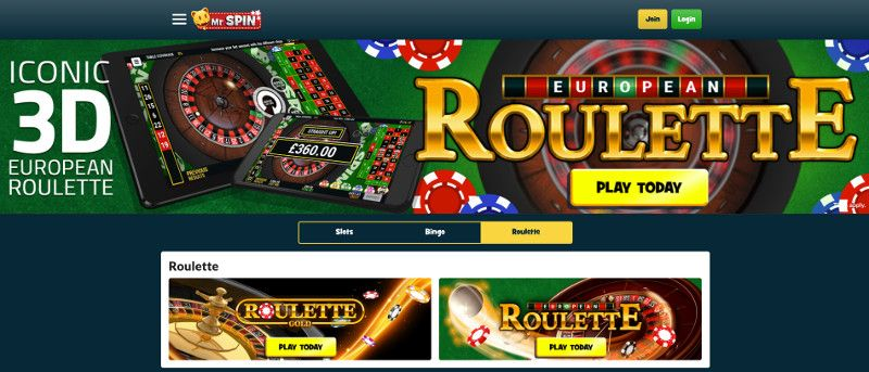 Roulette at Mr Spin