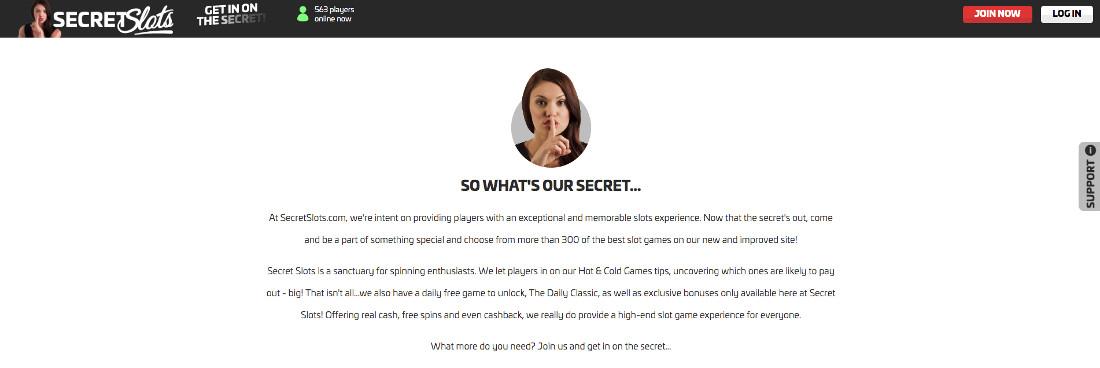 The secrets och Secret Slots