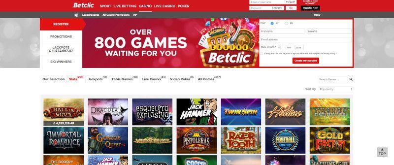 Slots at Betclic