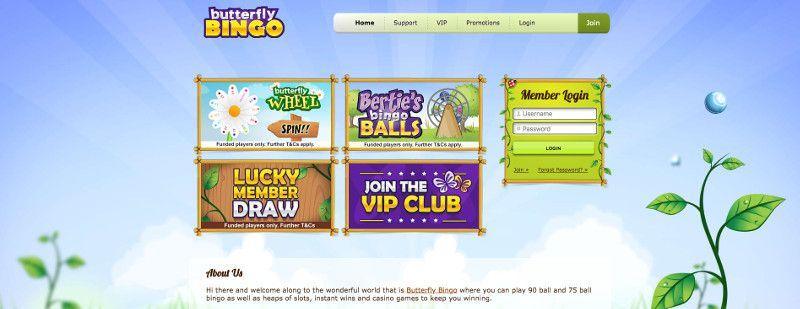 Butterfly bingo screenshot