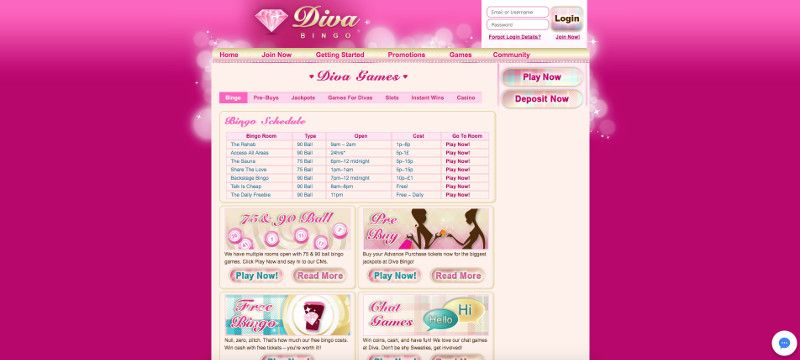 Diva bingo screenshot