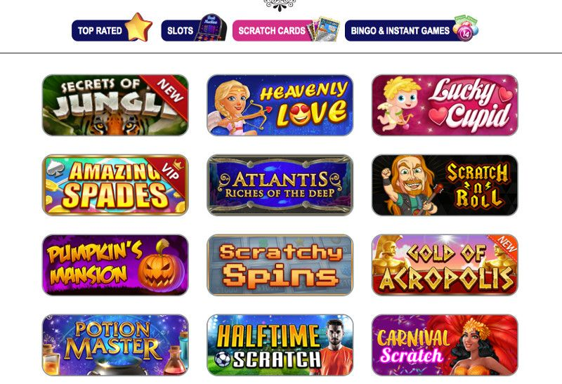 Scratch cards and other casino games at Winorama