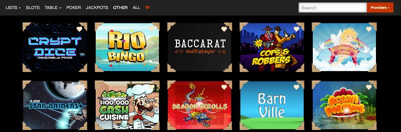 Scratch cards and other casino games at Eat Sleep Bet