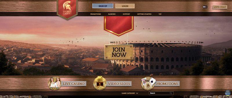 Bronze casino screenshot