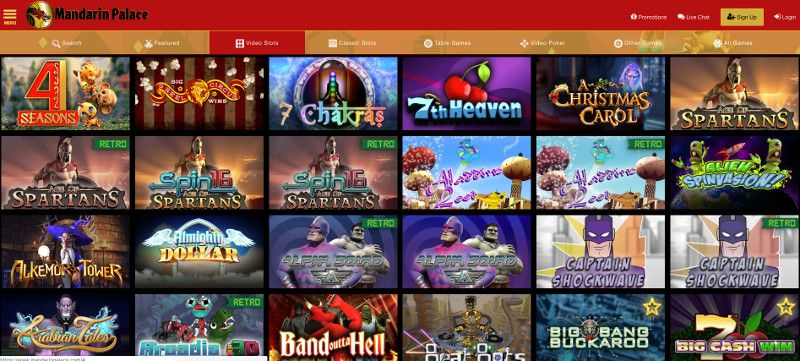 Slots at Mandarin Palace Casino