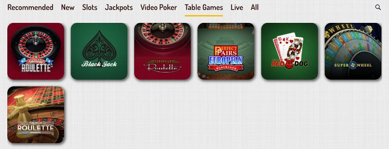 Table games at Karjala Casino