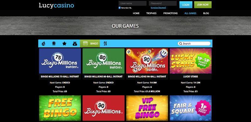 Bingo at Lucy casino