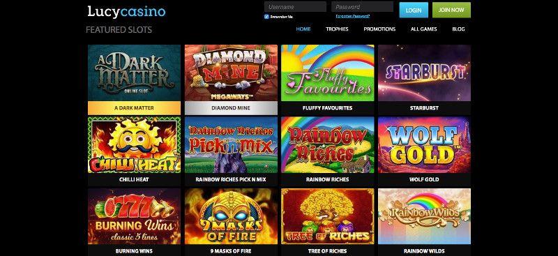 Lucy casino screenshot