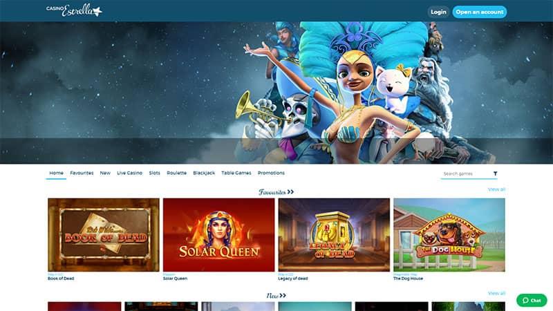 casinoestrella lobby screenshot
