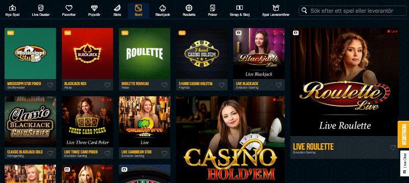 Table games at Dream Vegas casino