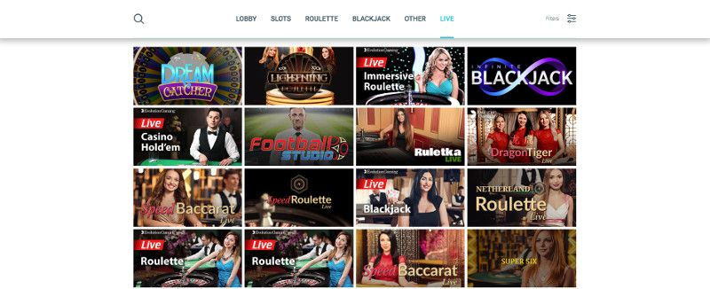 Live casino games at Surf Casino