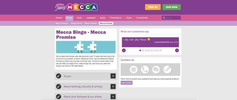 The Mecca Bingo Promise