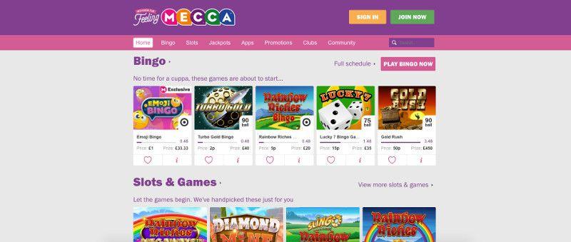 Mecca Bingo Screenshot