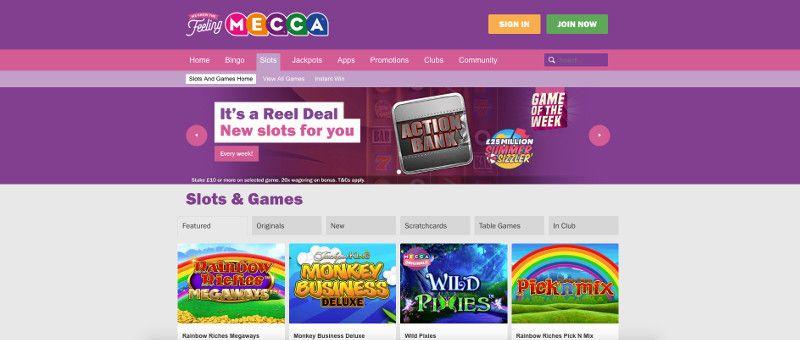 Slots at Mecca Bingo
