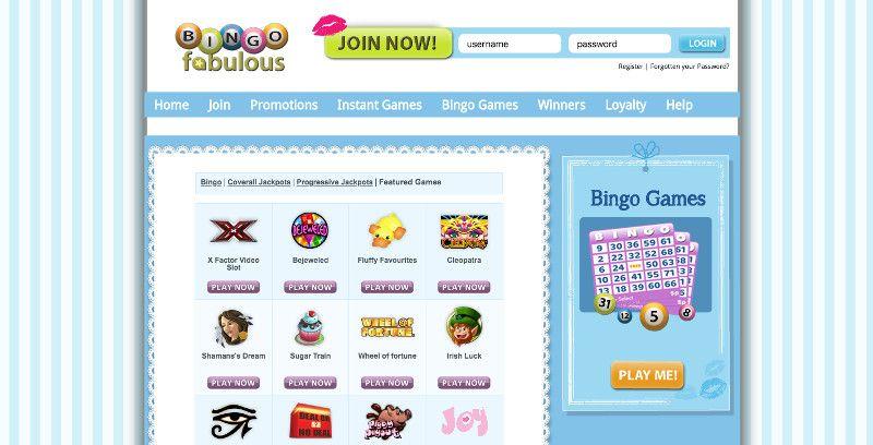 Slots at Bingo Fabulous
