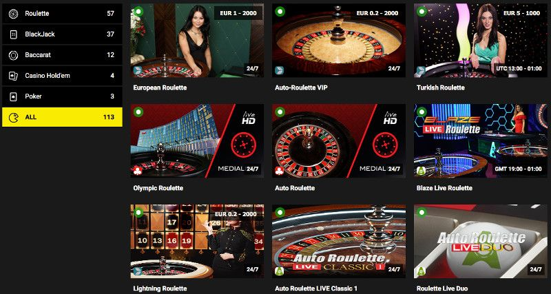 Live casino at Stake7