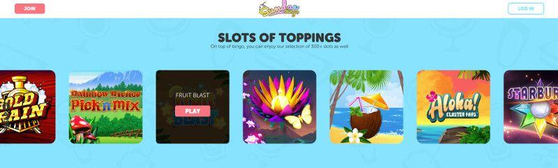 Slots at Sundae Bingo