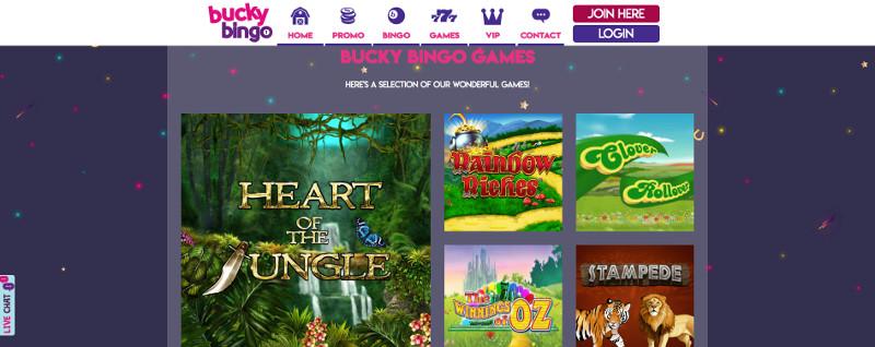 Slots at Bucky Bingo