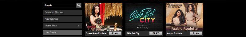 Live casino games at Triomphe casino