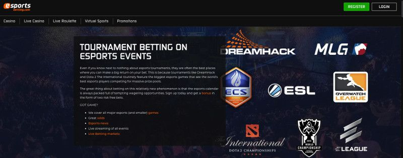 Tournaments at Esports Betting