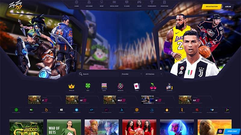 zigzag777 casino lobby screenshot