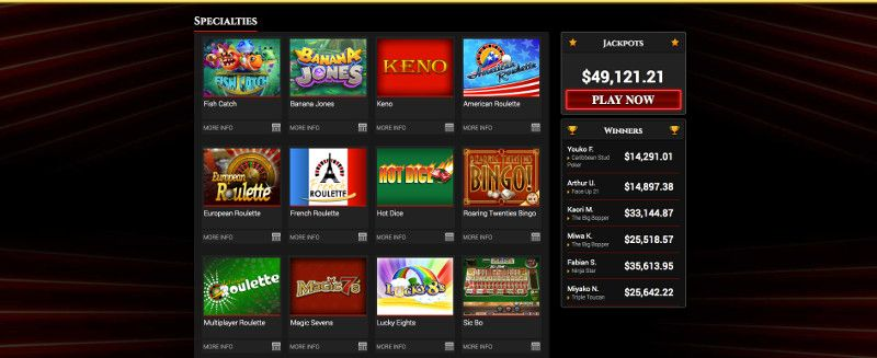 Keno and other casino games at Bovegas