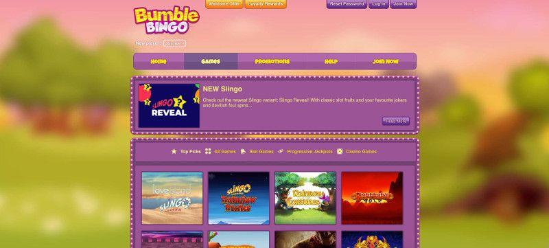 Bumble bingo screenshot
