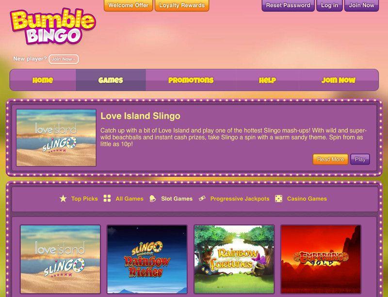 Slots at Bumble Bingo