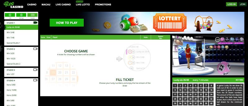 Lotto at ROO Casino