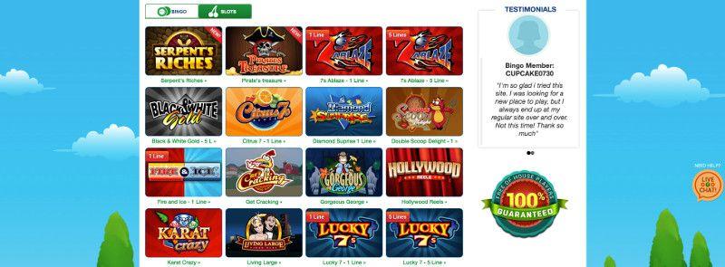 Slots at Bingo Billy