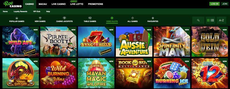 Slots at ROO Casino